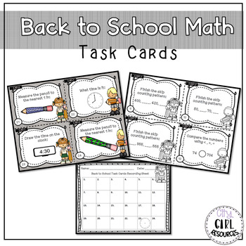 Back to School Task Cards for Third Graders by Renee B
