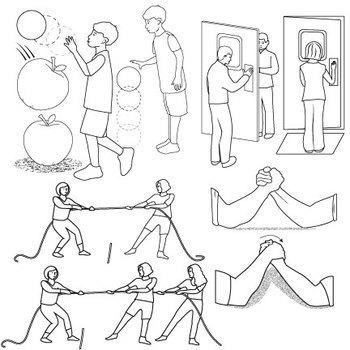 Balanced and Unbalanced Forces Clip Art by Studio Devanna