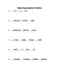 Balancing Chemical Equations Practice Worksheet by vicki ...