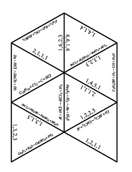 Balancing Chemical Equations Tarsia Puzzle by Mrs H's
