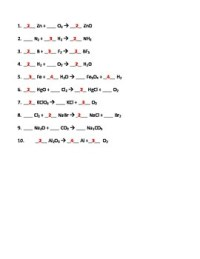 Balancing Chemical Equations Worksheet by Seriously ...
