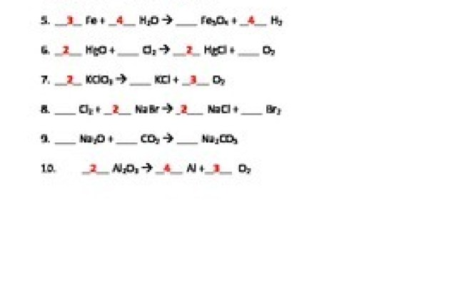 Cp Chemistry Balancing Equations Worksheet Answers ...