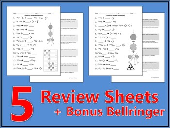 Balancing Nuclear Reactions Worksheet by Haney Science