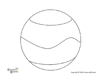 Symple Readers Week 3 Ball Tracing Worksheet by Symple