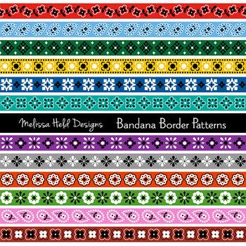 bandana border patterns clipart