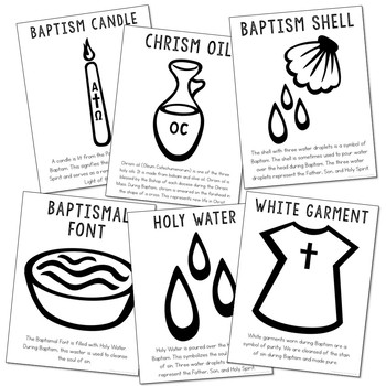 Baptism Sacrament Posters Coloring Pages And Mini Book