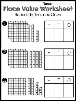 Place Value Worksheets 2nd Grade Ones Tens Hundreds by