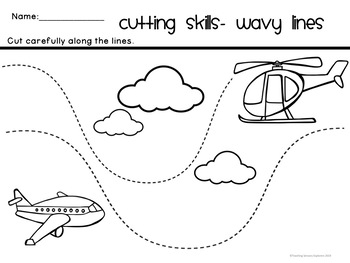 Transport Cutting Skills Worksheets by Teaching Sensory