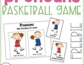 Basketball Pronoun Freebie!