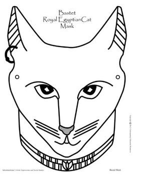 Bastet Ancient Egyptian Cat Mask by Kathleen Hamilton