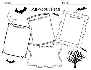 Bat Craft/Worksheet Pack (Stella Luna Supplement Material