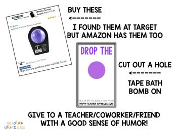 Bath Bomb Tags- Teacher Appreciation/End of Year by The