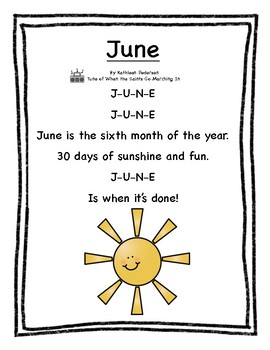 June Poetry Kindergarten & First Grade by Wishful Learning