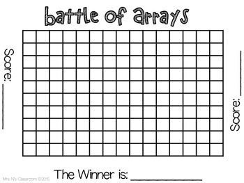 Battle of Arrays (Multiplication Activity) by Mrs N's