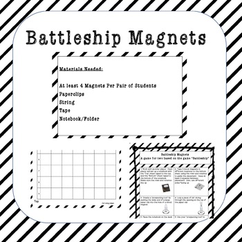 Battleship Magnets Activity NGSS MS-PS2-5 by Education is