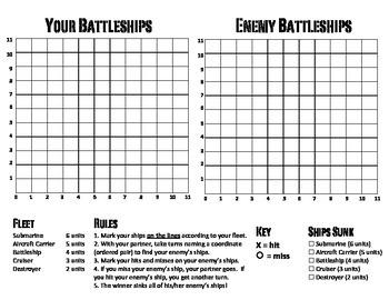 Math Worksheets Coordinate Plane Battleship. Math. Best