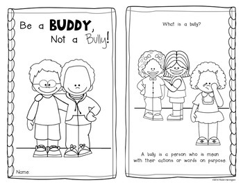 Be a Buddy, Not a Bully! {Emergent Reader} for