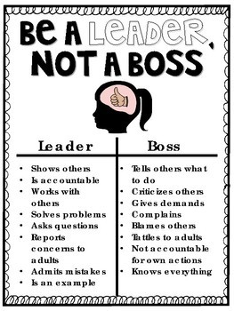 Be a Leader, Not a Boss by Allie Szczecinski with Miss