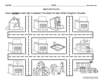 Bear About the Community Social Studies Activities(3 sets