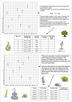 Bearings worksheet and answers (measuring out and drawing