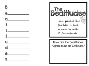 Beatitudes Lapbook and Poster Set (Catholic) by Real