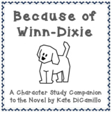 Because Of Winn Dixie Character Traits Teaching Resources