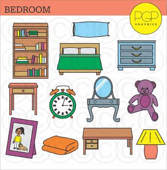 Bedroom Furniture Clip Art Worksheets Teachers Pay Teachers