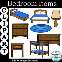 Bedroom Furniture Clip Art & Worksheets Teachers Pay Teachers