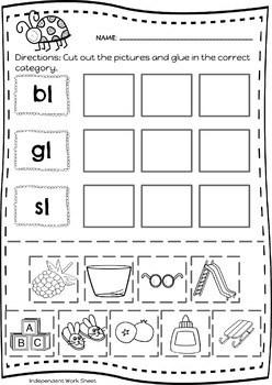 Beginning Blends & Short Vowel Word Sorts by Intervention