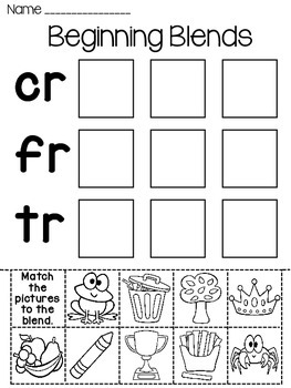 Blends Fun Worksheets (Initial Consonant Blends) by Miss