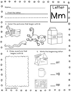 Beginning Letter Sound Printables by Michelle Griffo from