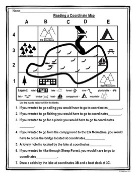 Beginning Mapping Skills Worksheets by Clare's Classroom