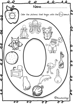 Beginning Sound Coloring Pages (Part 2) by Kinderella's