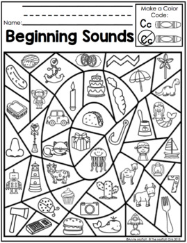 Beginning Sounds (Color by the Code) by The Moffatt Girls