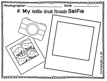 Beginning of the Year Selfie {Freebie} by First Grade