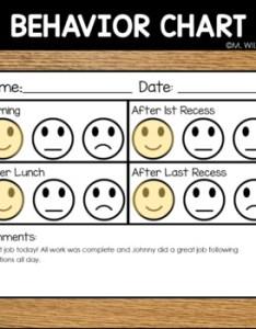 Editable behavior chart happy okay sad face positive reinforcement by melicety also rh teacherspayteachers