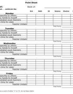 Behavior chart point sheet by erika west teachers pay also sheets gungoz  eye rh