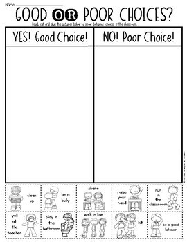 Behavior Kindergarten Worksheets. Behavior. Best Free