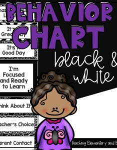 Original  also black and white behavior clip chart including an editable version rh teacherspayteachers