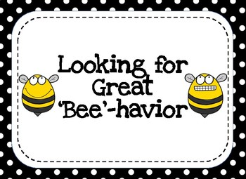 Behavior Clip Chart- Busy Bee Theme by Glue Sticks and