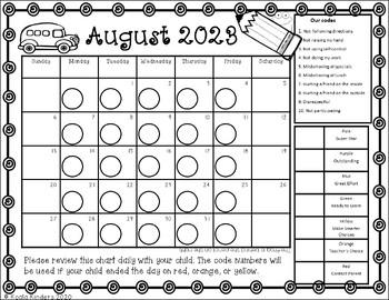 Behavior Clip Chart Calendars for Frogs 2019-2020 (Print