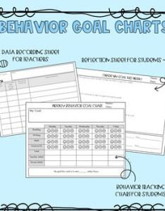 Behavior goal chart also by chasing lemons teachers pay rh teacherspayteachers