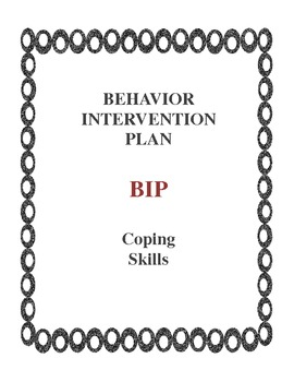 Behavior Intervention Plan BIP Coping Skills by Kimberly