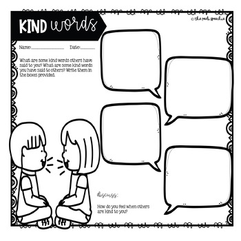 Being Nice To Others: A Social Story & Worksheet by The