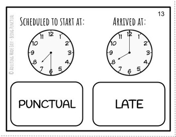 Being Punctual Task Cards by Adulting Made Easy aka