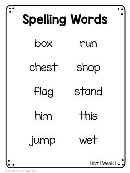 Benchmark Advance 2nd Grade Spelling Word Lists by Life
