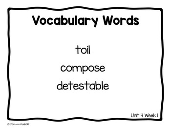 Benchmark Advance 3rd Grade Vocabulary Word, Picture