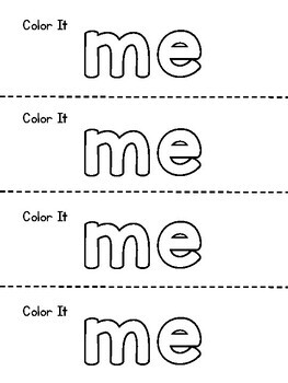 Benchmark Aligned Kindergarten Sight Word Mini-Booklet