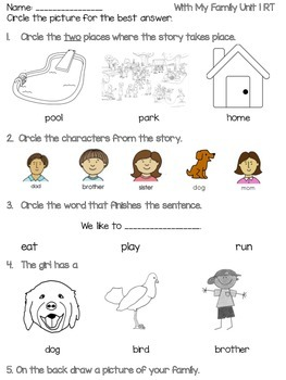 Benchmark Literacy Kindergarten Readers Theater Quiz by A
