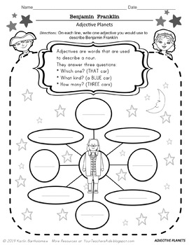 Benjamin Franklin- 19 PAGES of Fun Activities by Mrs Bart